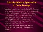 interdisciplinary approaches to brain damage10