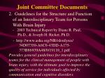 joint committee documents