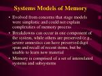 systems models of memory