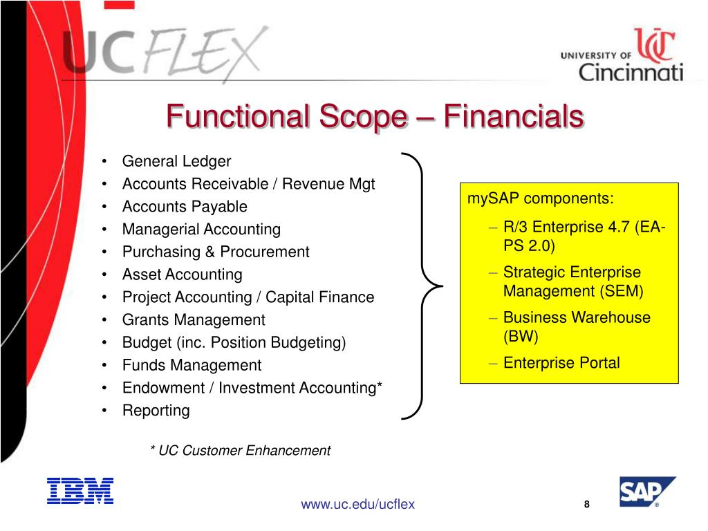 Functional Scope – Financials
