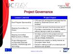 project governance31