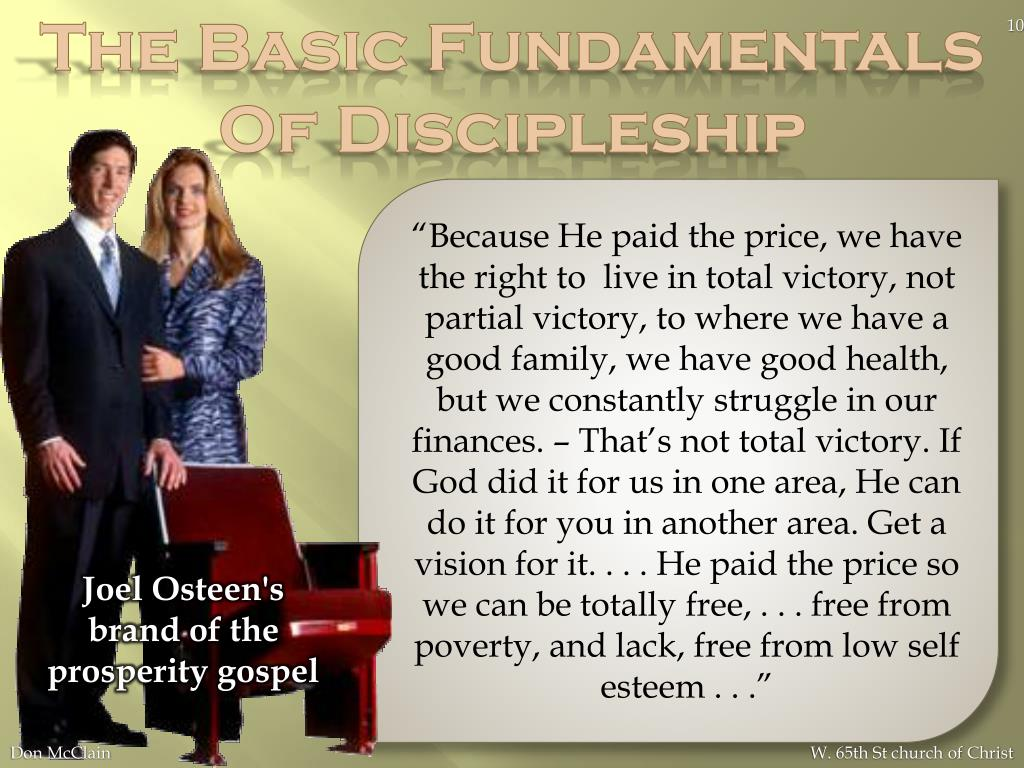 The Basic Fundamentals Of Discipleship