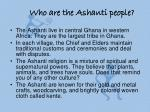 who are the ashanti people
