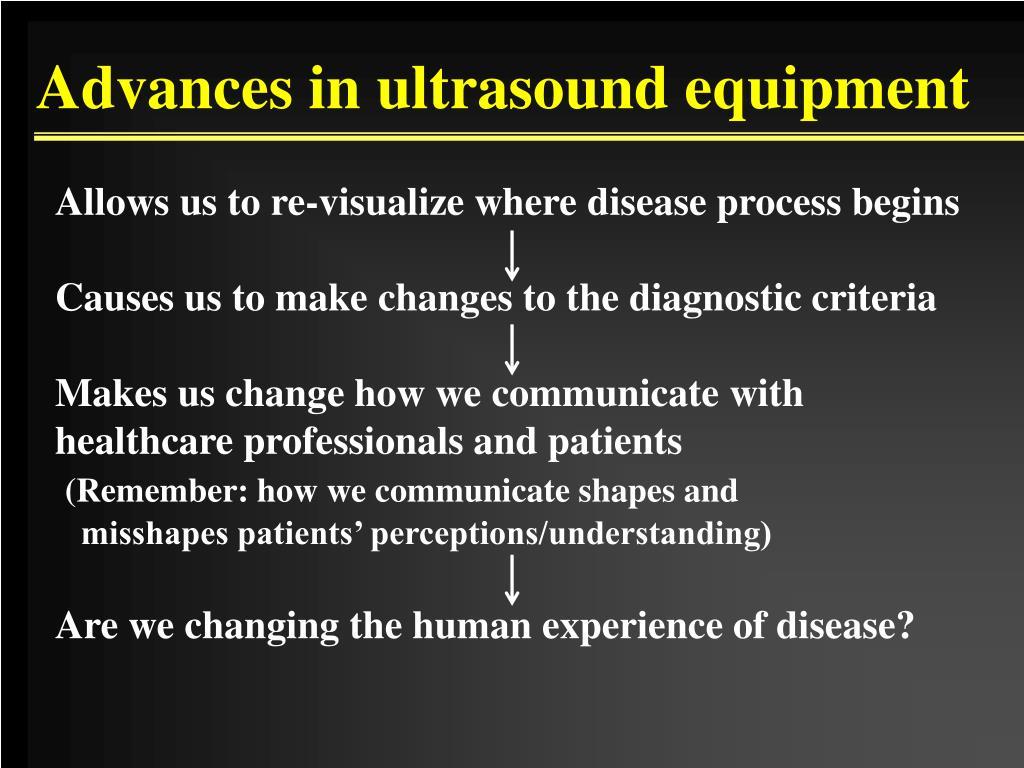 Advances in ultrasound equipment