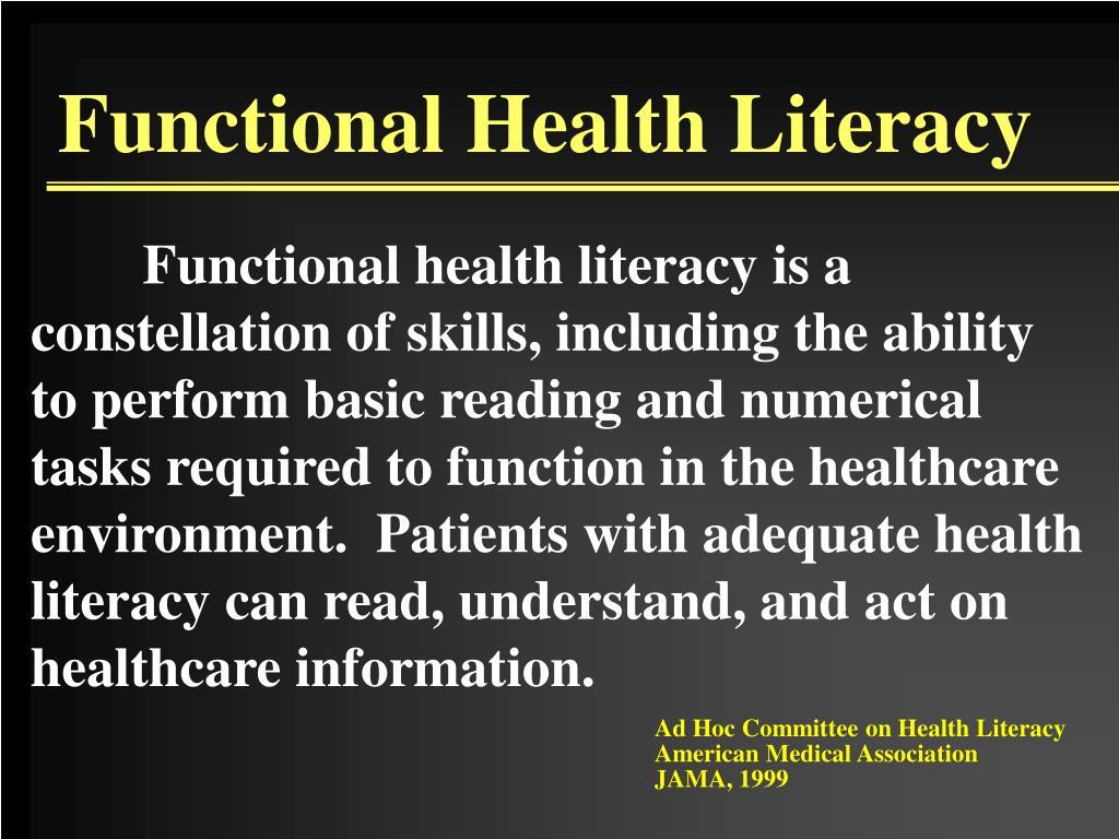 Functional Health Literacy