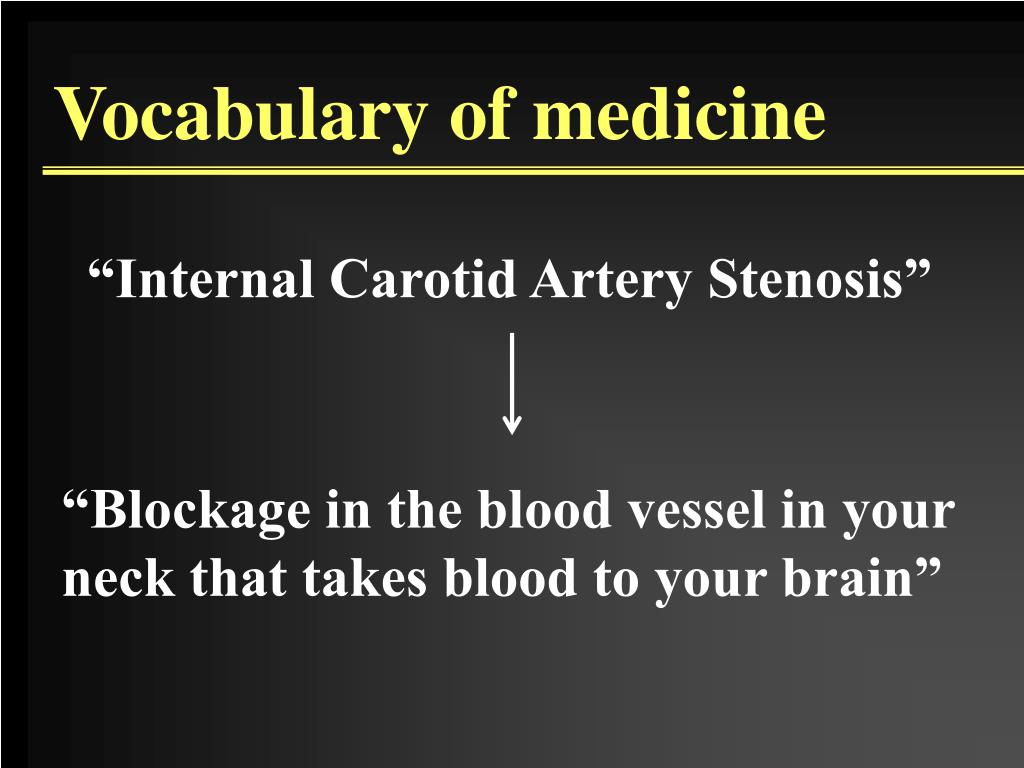 """""""Blockage in the blood vessel in your"""