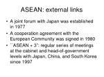 asean external links