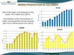 mining production in colombia