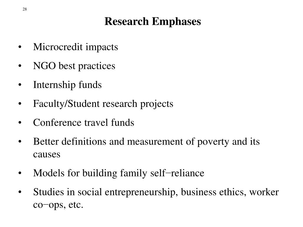 Research Emphases