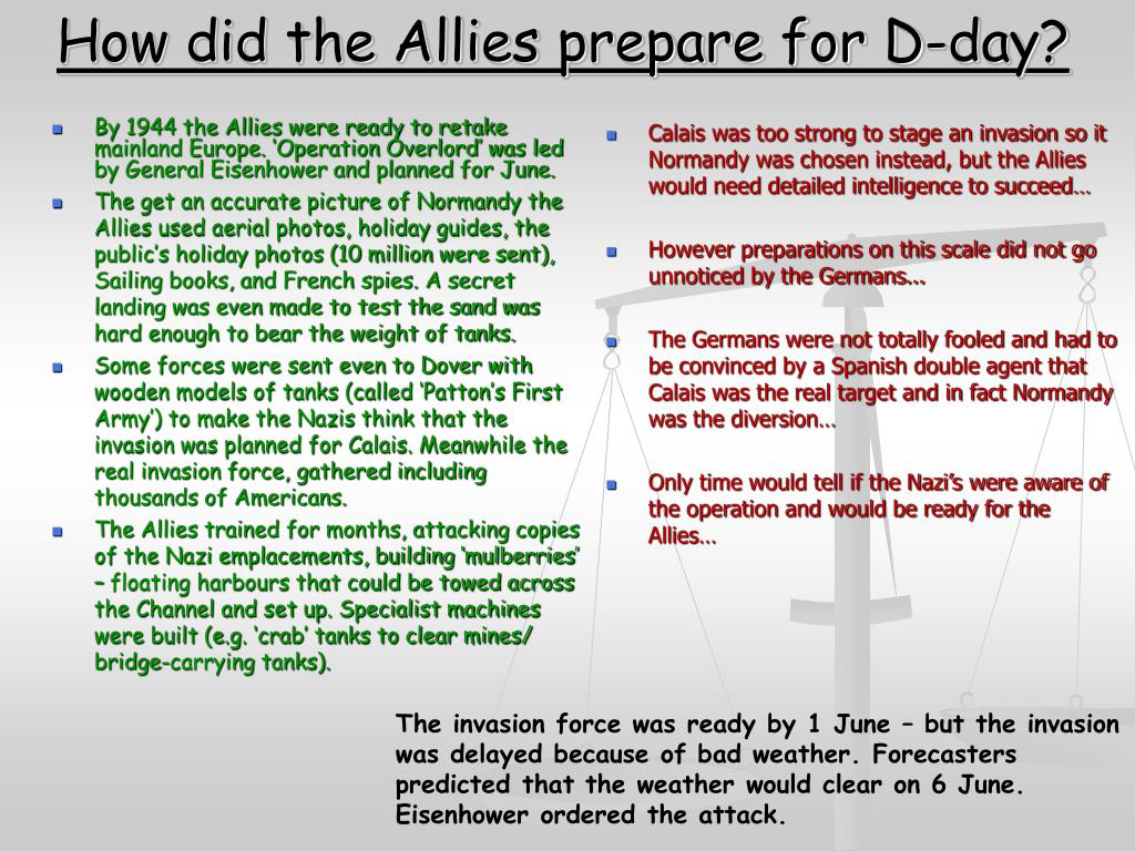 How did the Allies prepare for D-day?
