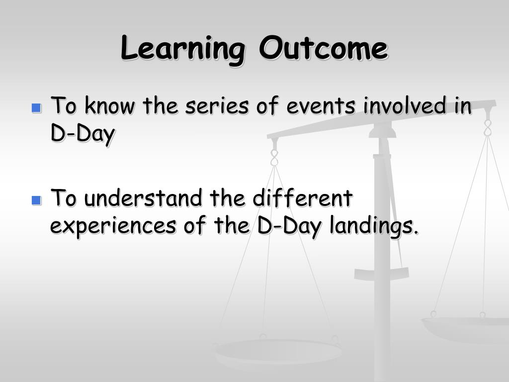 learning outcome l.