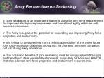 army perspective on seabasing