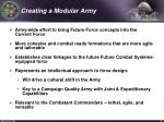 creating a modular army