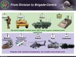 from division to brigade centric
