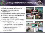 joint operational environment joe