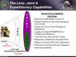 the lens joint expeditionary capabilities