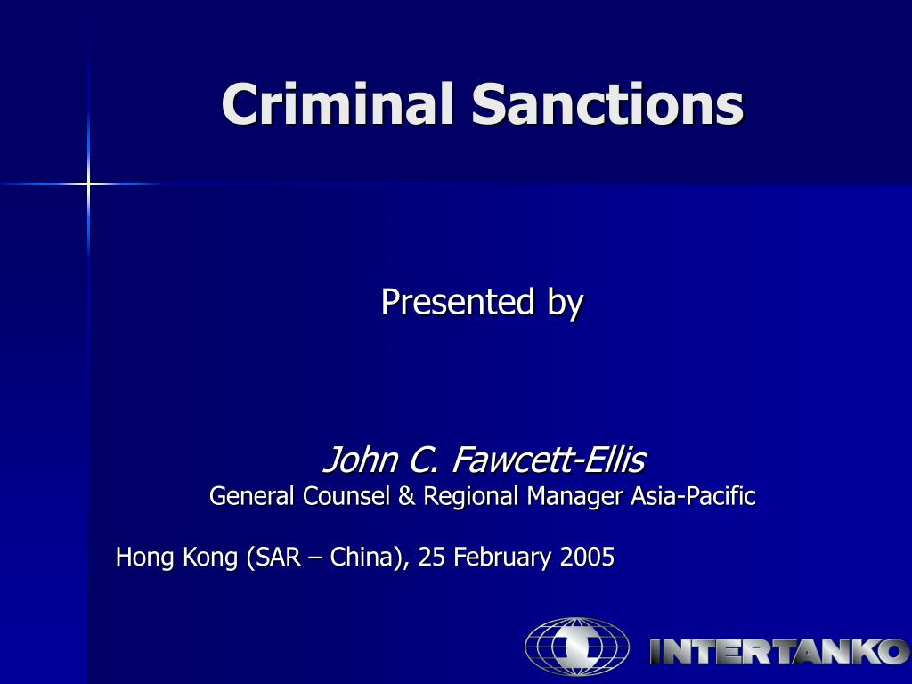 criminal sanctions l.