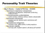 personality trait theories3