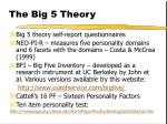 the big 5 theory