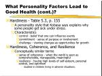 what personality factors lead to good health cont11
