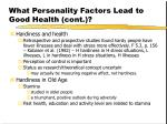 what personality factors lead to good health cont12