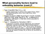 what personality factors lead to unhealthy behavior cont16