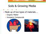 soils growing media