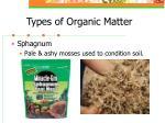 types of organic matter10