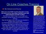 on line coaches training