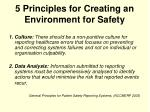 5 principles for creating an environment for safety