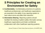 5 principles for creating an environment for safety8