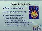 phase 5 reflection