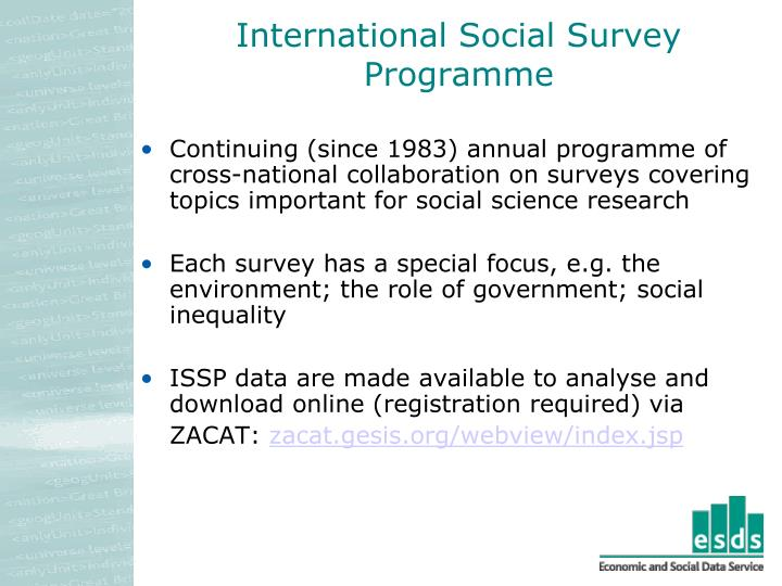 International Social Survey Programme