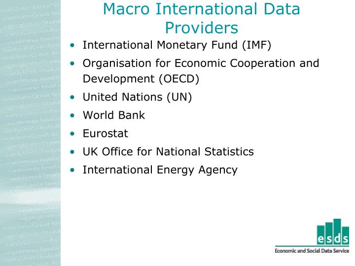Macro International Data Providers