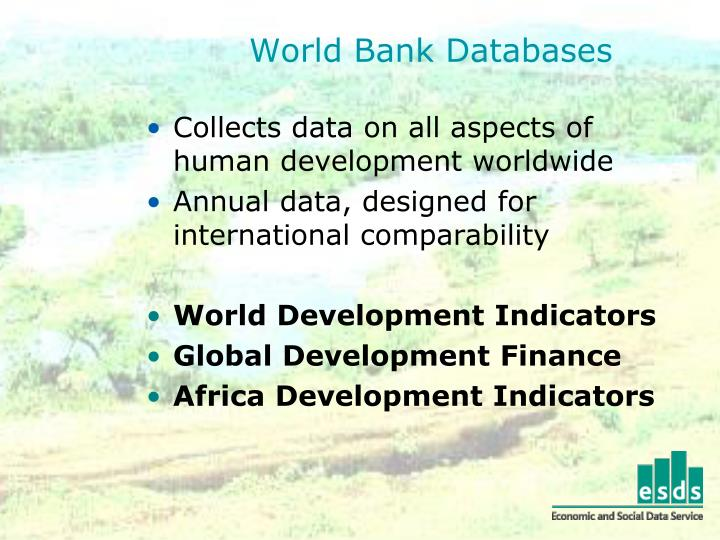 World Bank Databases