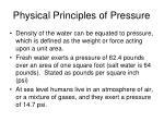 physical principles of pressure
