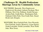 challenges ii health professions shortage areas by community areas
