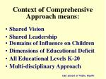 context of comprehensive approach means