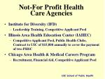 not for profit health care agencies