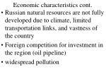 economic characteristics cont