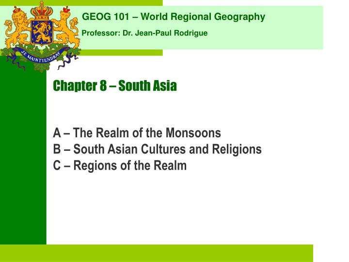 Chapter 8 south asia