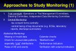 approaches to study monitoring 1
