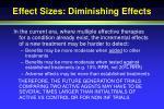 effect sizes diminishing effects