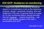 ich gcp guidance on monitoring