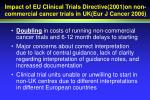 impact of eu clinical trials directive 2001 on non commercial cancer trials in uk eur j cancer 2006