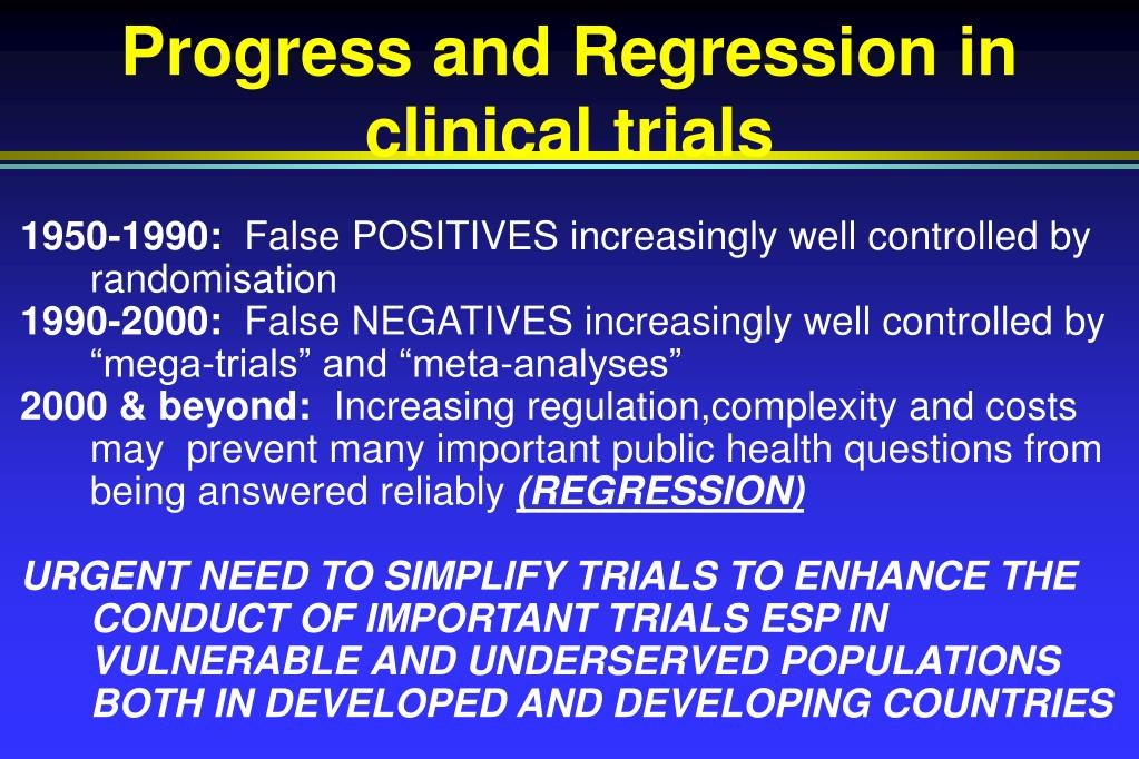 progress and regression in clinical trials l.