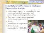social enterprise development strategies empowerment strategies