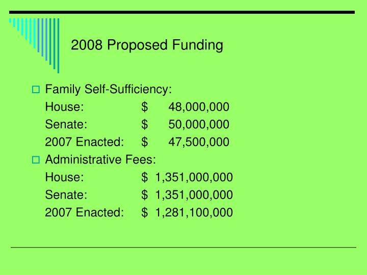 2008 Proposed Funding