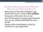 homeless education and the american recovery and reinvestment act