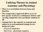 unifying themes in animal anatomy and physiology